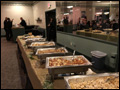 buffet line at the VFW Hall in Albertson