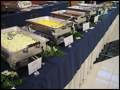 breakfast buffet line at a catered corporate event