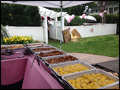 catered third birthday party with a rodeo theme and bbq style food
