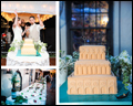 gluten free rainbow cookie wedding cake inspired by a square in Venice where the groom proposed