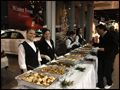 buffet style catering at a catered Long Island Christmas party