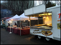 A catered corporate event featuring our sausage and pepper truck, taco truck and zeppole trailer