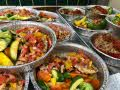 individually packaged meals ready for catering