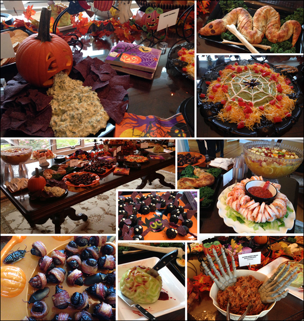 presentation of catered scary halloween food with creative ideas to scare and delight your guests