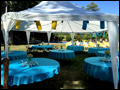catered Long Island tent wedding with a relaxed atmosphere