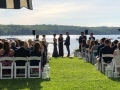 Long Island outdoor wedding ceremony has started