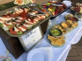 platters table at a wedding reception